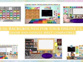 Virtual backgrounds for online lessons (UPDATED!)
