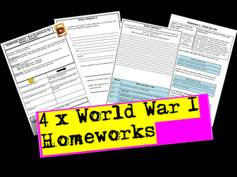 World War I Homeworks
