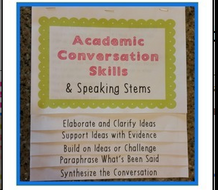 Academic Conversation Skills Flipbook for Discussions