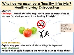 Healthy living PSHE 2020