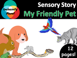 My Friendly Pet SENSORY STORY including vocabulary cards and guide