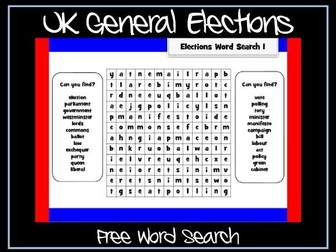 General Election Wordsearch