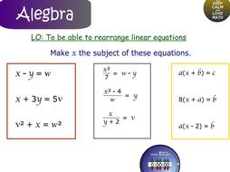 Rearranging Formula