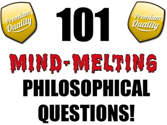 101 Philosophical Questions (P4C) [Philosophy for Children]