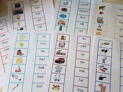 Phonics reading activity sheets
