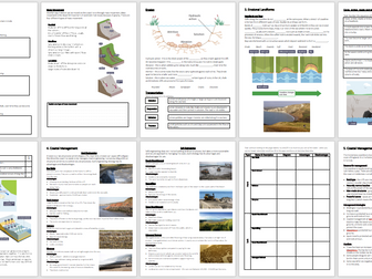 Coasts Revision Booklet - AQA Geography GCSE