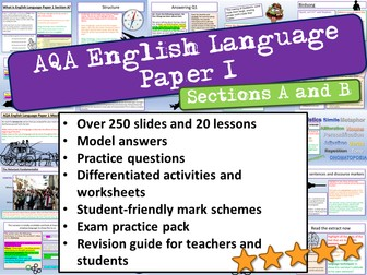 AQA English Language Paper 1 Sections A and B