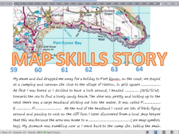 national story telling week geography map skills story