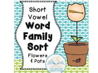 Word Family Picture Sort -- Flowers
