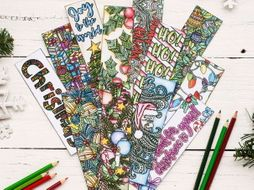 christmas coloring bookmarks 12 pack printable 85x11 pdf bookmarks for christmas