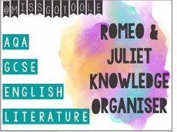 Romeo and Juliet Knowledge Organiser/ Revision Mat (AQA)