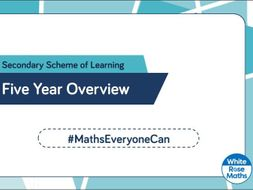 White Rose Maths - Secondary - 5 Year Plan & Guidance