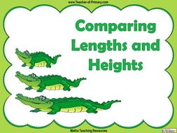 Comparing Lengths and Heights - Year 1