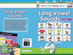 Cut and Paste Phonics Book 3 US: Long Vowel Sounds for Grades 1 and 2 (51 Pages)