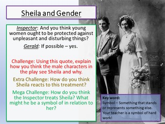 An Inspector Calls - Sheila and Historical Context