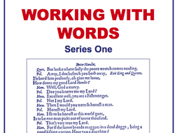 Working with Words Series One Scheme of Work Sample Pages