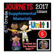 Journeys 2017 6th Grade Unit 1 Supplemental Materials