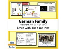 Introduce Meine Familie with the Simpsons and an authentic German song