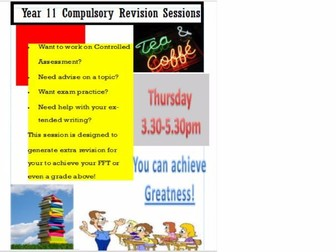 Revision Poster for Year 11