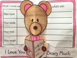 Mother's Day Crafts or Valentine's Day Crafts - I Love You Beary Much POP-UP