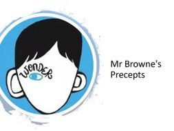 Wonder Lesson 1 - Mr Browne's Precepts