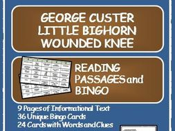 READING PASSAGES AND BINGO: Little Bighorn, Wounded Knee and the Cavalry