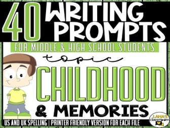 Daily Writing Prompts | Childhood | Middle and High School