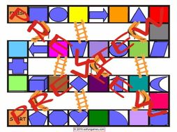 Colors and Shapes Chutes and Ladders Board Game
