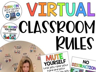 Virtual Classroom Rules | Zoom and Google Hangout Behavior Expectations