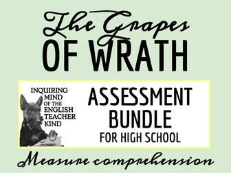 The Grapes of Wrath Assessment Bundle