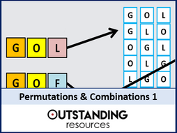 Permutations And Combinations 1 An Introduction Worksheet By
