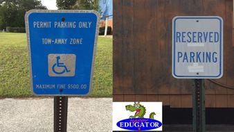 Dollar Stock Photos - Special Parking Signs