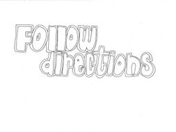 Follow Directions: Classroom Rules Colouring Page