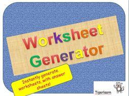 Instant worksheet generator - double digit subtraction