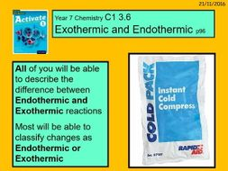 cold pack endothermic or exothermic