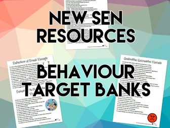 SEND Behaviour Target Banks