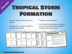 Tropical storm formation - differentiated activity sheets