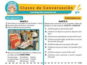 Preferencias - Spanish Speaking Activity