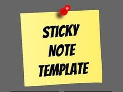 sticky note template editable in google slides by rombop