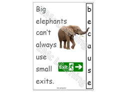 Because Spelling Mnemonic Poster Big Elephants Can't Always Use Small Exits