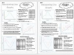 interpreting line graphs differentiated worksheets data statistics ks2 by missgalloway. Black Bedroom Furniture Sets. Home Design Ideas