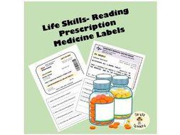 Reading Prescription Medication Labels