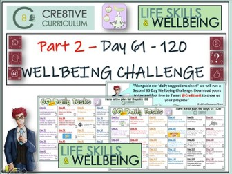 Wellbeing 120 Day Home Learning Challenge