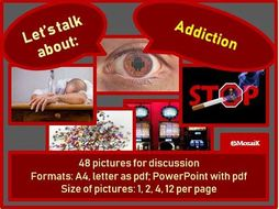 Addiction : picture cards for discussion
