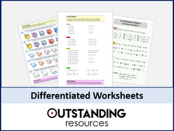 Differentiated WORKSHEET on Solving Equations (with Answers)