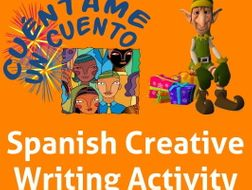 Spanish Creative Writing for Christmas and Winter Holidays. La Navidad y Fiestas de Invierno