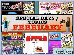 Tutor time activities - February