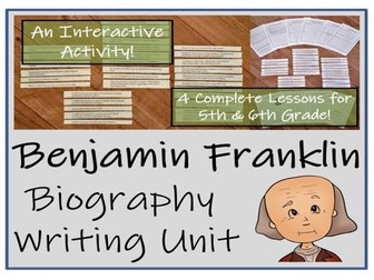 UKS2 History - Benjamin Franklin Biography Writing Unit