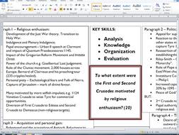 Edexcel Alevel History Crusades Essay Plans  Collected By  Edexcel Alevel History Crusades Essay Plans  Collected