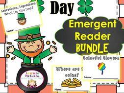 St. Patrick's Day Emergent Reader Bundle: THREE in one